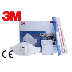 Box med 10 st CE FFP3 NR D 3M AURA 9332+ med Ventil Munskydd Vit