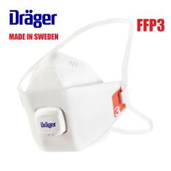 10-pack CE FFP3 NR D Dräger X-plore® 1930 V Skyddsmask Munskydd  Vit