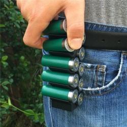 18.5 mm Kaliber 12 Hagel Hagelgevär Hållare Bältesclip 10 Skott