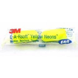 3-par 3M  E-A-R Soft  Yellow Neons Öronproppar i Reseförpackning