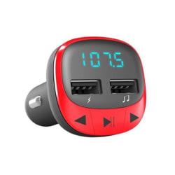 Bluetooth FM Sändare med USB-uttag för Bil Röd