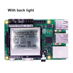 CPU Info 1.6 inch 84x48 Skärmmodul med Backlight för Raspberry P
