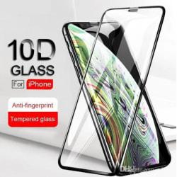 iPhone X 10D Härdat glas Heltäckande Skärmskydd - Svarta Kanter Transparent