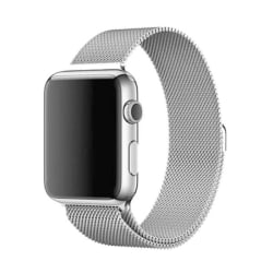 Klockarmband Apple Watch 1/2/3/4/5/6/SE Armband Milanese 38/40 - Silver