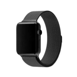 Klockarmband Apple Watch 1/2/3/4/5/6/SE Armband Milanese 38/40 - Svart