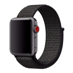 Klockarmband Apple Watch 1/2/3/4/5/6/SE Armband Nylon 42/44 Svar Svart