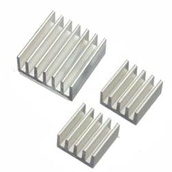 Kylflänsar Aluminium Raspberry Pi A, B, B+, 2, 3 etc.  Silver