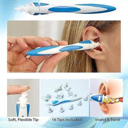 Öronrengörare med Spiral / Öronrensare / Tops - Smart Swab Blå