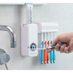 Tandkrämsdoserare med Tandborsthållare Vit