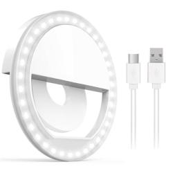Universell Selfie Lampa LED Ring med olika ljuslägen Ring Light White