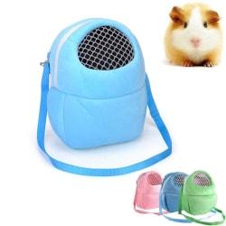 Väska Bärväska Hamster Chinchilla Marsvin Blå Blå