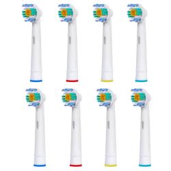 Tandborsthuvuden Oral B Kompatibla 3D White 8x EB-18A Vit