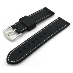 Klockarmband silikon  22 mm med söm