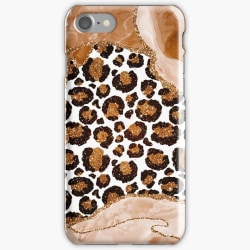 Skal till iPhone 6 Plus - Leopard glitter