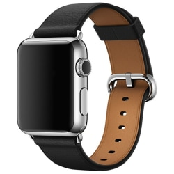 Äkta Läderarmband Apple Watch 42/44mm Svart