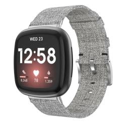 Canvasarmband Fitbit Versa 3/Sense Grå