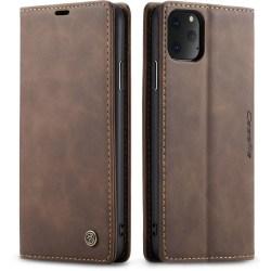 CaseMe Retro Slim Plånboksfodral iPhone 11 Pro Brun