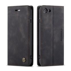 CaseMe Retro Slim Plånboksfodral iPhone 7/8/SE 2020 Svart