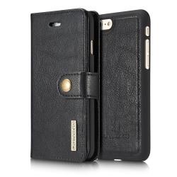 DG.MING Plånboksfodral Läder iPhone 7/8/SE 2020 Svart