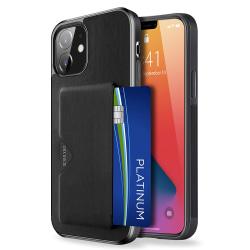 Dux Ducis PoCard Kortfack Skal iPhone 12/12 Pro Svart