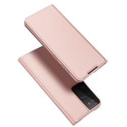 Dux Ducis Skin Pro Läderfodral Samsung Galaxy S21 Ultra Rosa