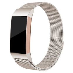 Milanese Loop Armband Fitbit Charge 3/4 Champagne Gold