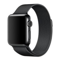 Milanese Loop Metallarmband Apple Watch 42/44mm Svart