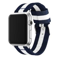 Nylonarmband Apple Watch 38/40mm Blå/Vit