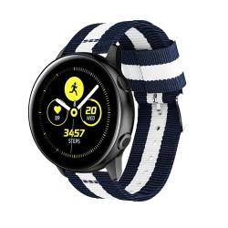 Nylonarmband Samsung Galaxy Watch Active Blå/Vit