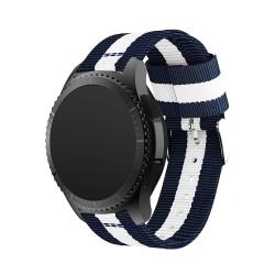 Nylonarmband Samsung Gear S3 Frontier/S3 Classic Blå/Vit