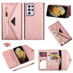 Plånboksfodral Samsung Galaxy S21 Ultra Rose Guld