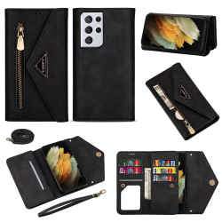 Plånboksfodral Samsung Galaxy S21 Ultra Svart