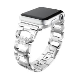 Rhinestone Metallarmband Apple Watch 38/40mm Silver