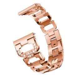 Rhinestone Metallarmband Galaxy Watch 42mm Rose Guld