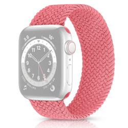 Solo Loop Flätad Armband Apple Watch 38/40mm Rosa