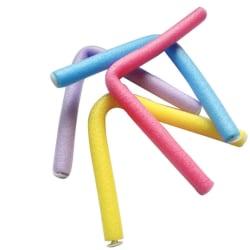 10-pack skumgummi rullar, lockar håret, böjbara styla hårspolar blå 24*1,4 cm