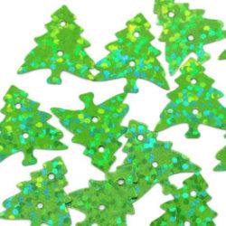 100 pack konfetti julgran, glitter grön dekoration jul pynt Grön