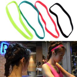 2 pack hårband träningsband unisex träna håret svettband flera färger