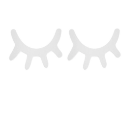2-pack ögonlock dekor vägg barnrum ögon inredning, vita Vit