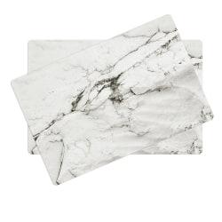 2 pack underlägg / bordstabletter i plast. marmor mönster vit/grå/svart
