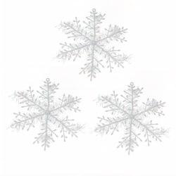 24 pack  små snöflingor vit