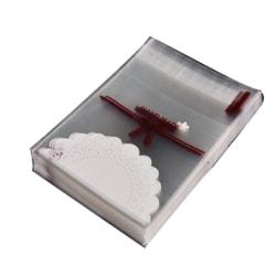 25-pack påse text handmade present handgjord gå bort gåva Genomskinlig och färg