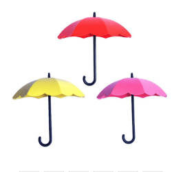 3 pack mini paraplyer, hylla dekoration present, rosa/gul/röd Rosa , gul , röd