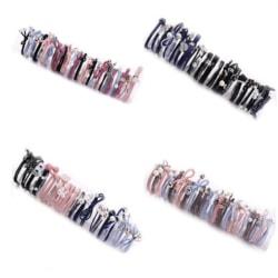 4 pack hårsnoddar armband  flerfärgad