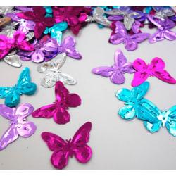 20 gram konfetti fjärilar i blandade färger, dekorera fest kalas Rosa , lila, silver , blå
