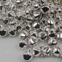 50 pack jul bjällror, dekoration bord hängande gran ris Silver