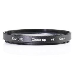 52 mm +2 close up- / makro- / närbildsfilter Svart