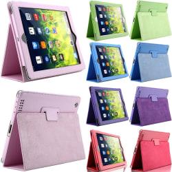 Alla modeller iPad skydd/fodral/skal röd grön lila blå rosa - Lila Ipad Air 1/2 & Ipad 9,7 Gen5/Gen6