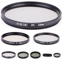 CPL filter 37 - 58 mm svart. Välj storlek i listan! 37mm