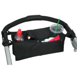 Förvaring till barnvagn, sätt på handtaget, välling flaska  Svart